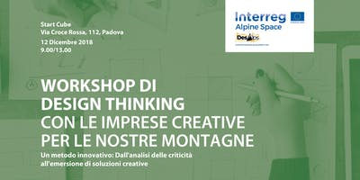 Workshop di Design Thinking con le imprese creative per le nostre montagne