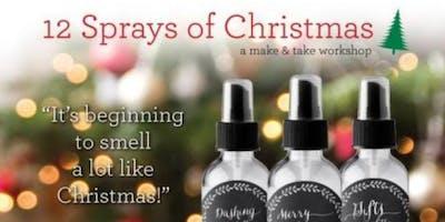 12 Sprays of Christmas:  A Make & Take Workshop!