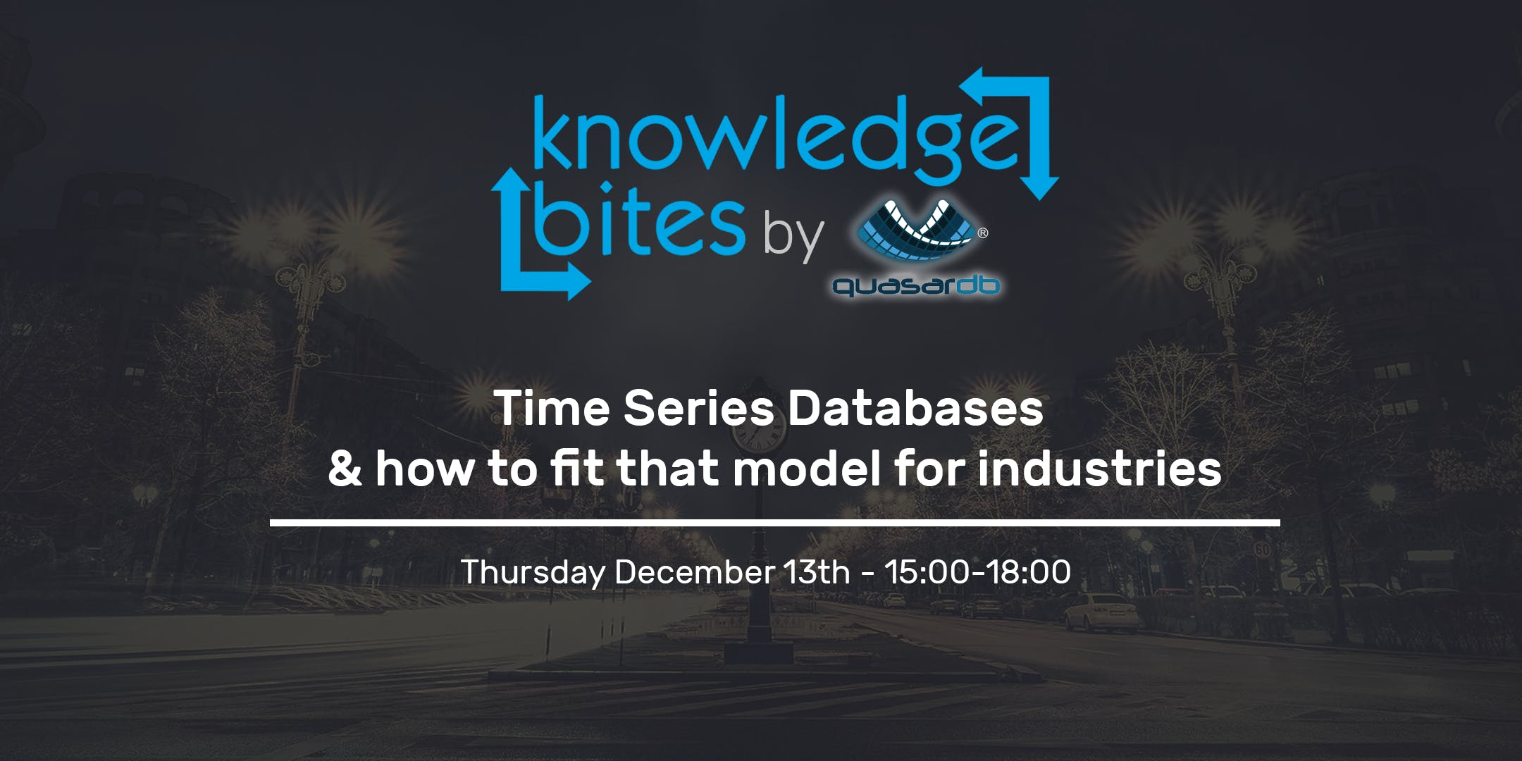 Knowledge Bites: Time Series Databases & how