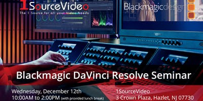 Blackmagic DaVinci Resolve Editing Seminar