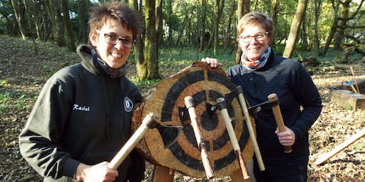 Axe throwing event (1 - 2.30pm, 17 August 2019, near Cardiff)
