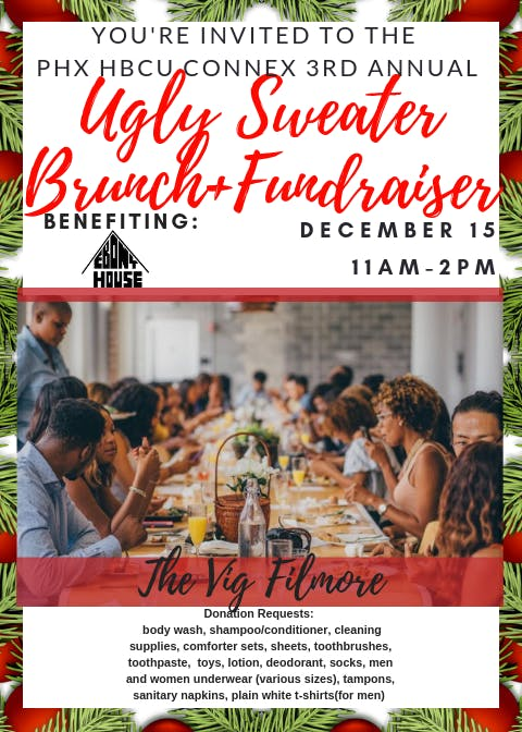 PHX HBCU CONNEX 3rd Annual Ugly Sweater Brunch+Fundraiser