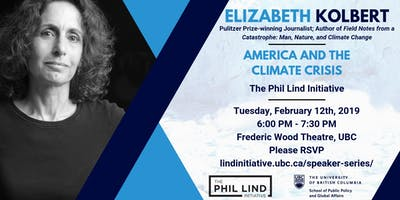 The Phil Lind Initiative Presents: Elizabeth Kolbert