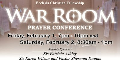 War Room Feb 1st and Prayer Conference Feb 2nd