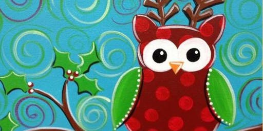 Kids & Adults Painting Class - Christmas Cutie Owl - Spencer