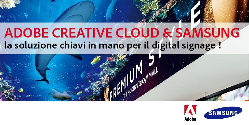 ADOBE CREATIVE CLOUD e SAMSUNG