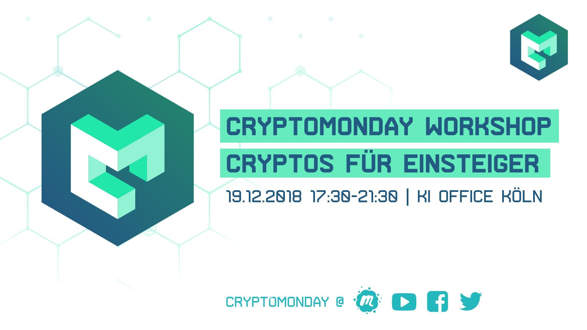 CryptoMonday Workshop | Cryptos für Einsteige