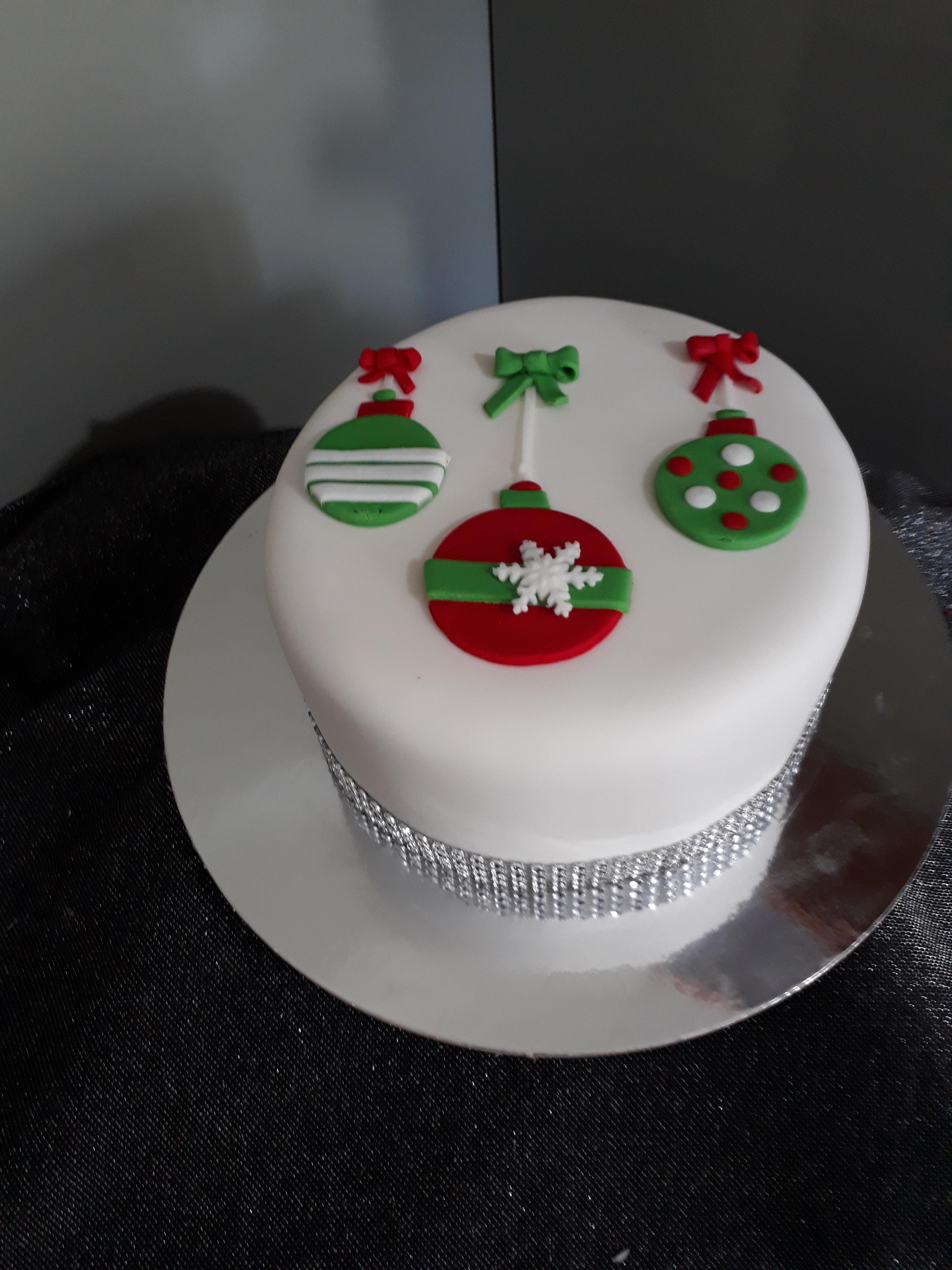 Cake Decorating Class:Christmas cake