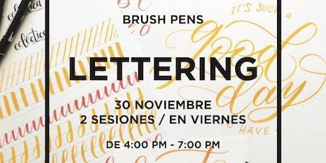 TALLER DE LETTERING: Brush Pens entradas