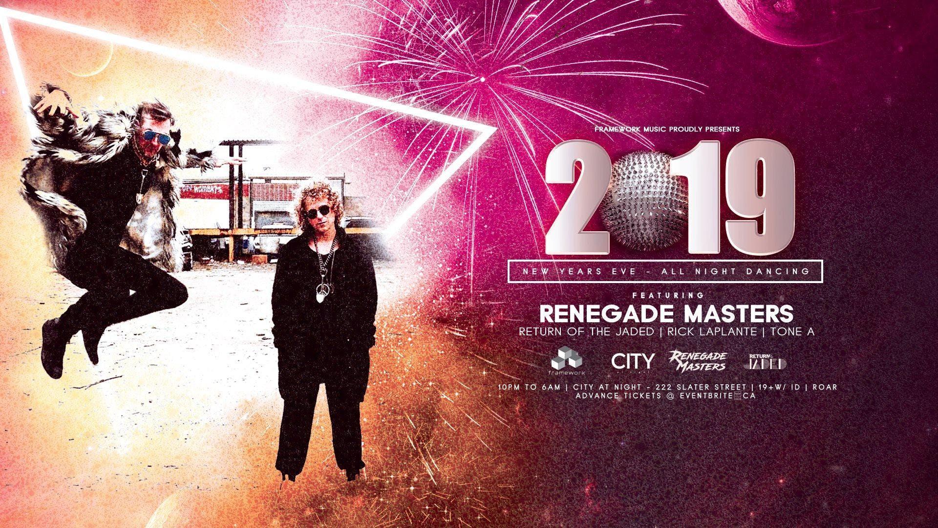 Framework Music NYE w/ Renegade Masters 10pm - 6am