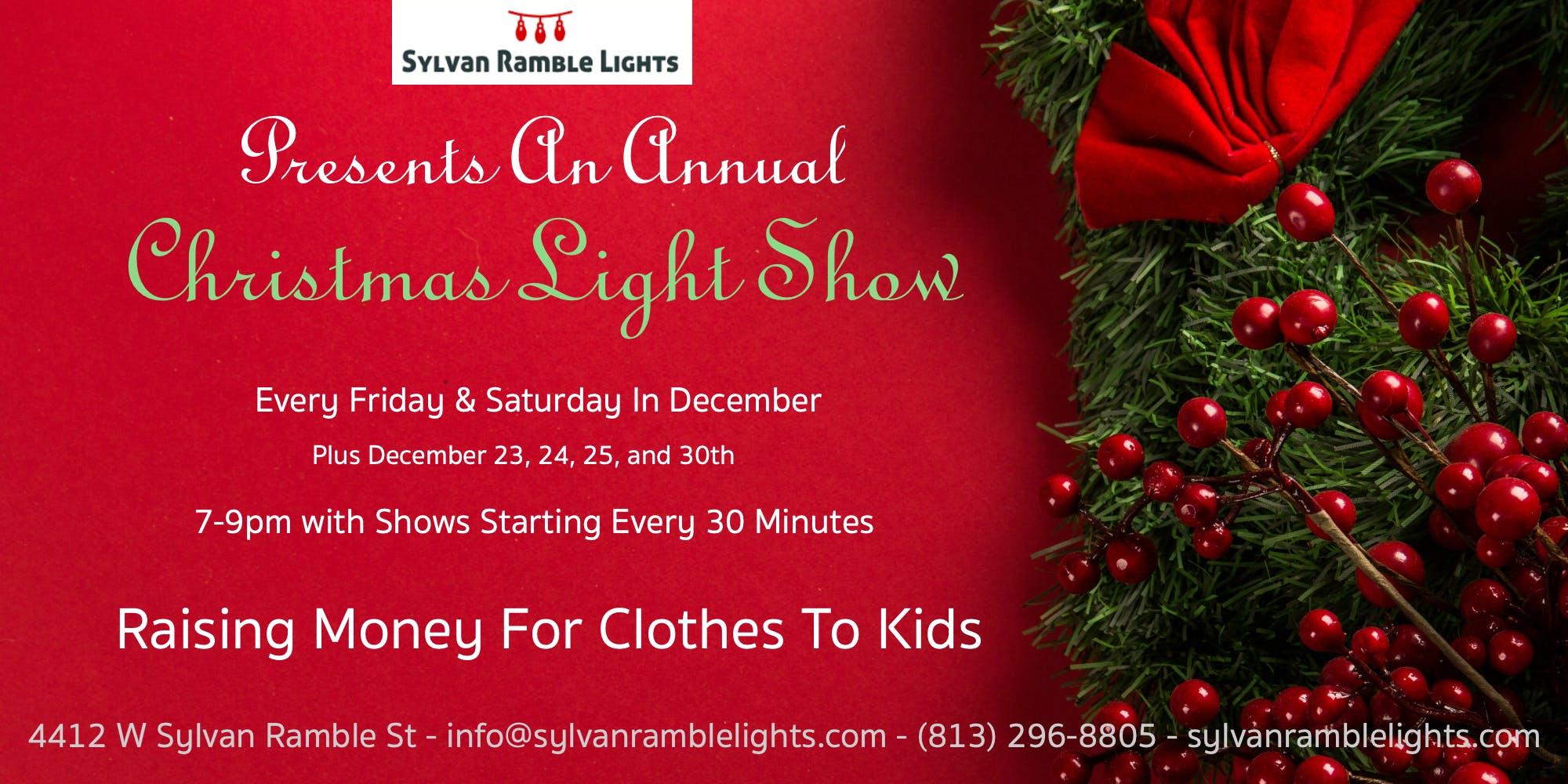 Sylvan Ramble Lights - Christmas Light Show - 8 DEC 2018