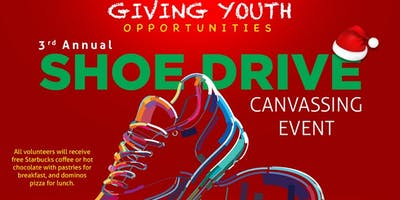 G.Y.O 3rd Annual Shoe Canvassing Event