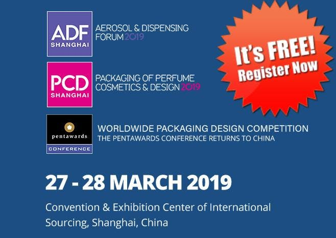 ADF & PCD Shanghai 2019 - Event on Cosmetic, Packaging & Design