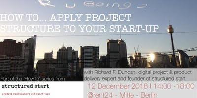 How to...Apply project structure to your start-up