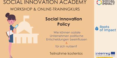 Social Innovation Policy: Wie können soziale Unte