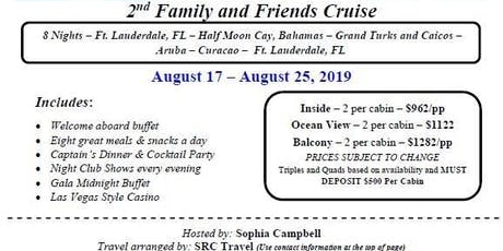 Friends and Family Cruise to the Caribbean tickets