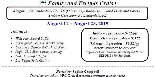 Friends and Family Cruise to the Caribbean