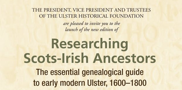 Researching Scots-Irish Ancestors Book Launch