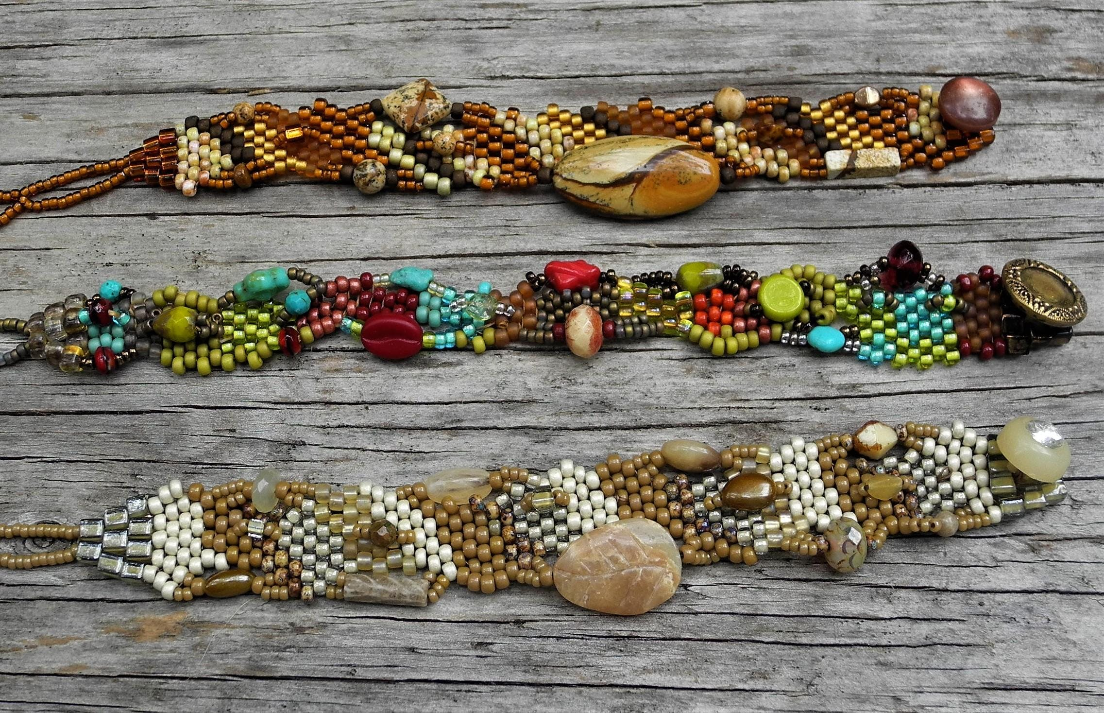 Free-Form Peyote Stitch Bracelet Workshop