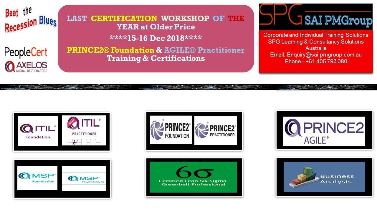 Affordable Best Quality Training On Prince2 Agile Project