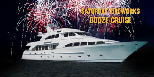 Saturday Fireworks Booze Cruise on July 20th