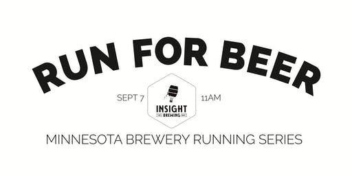 Beer Run - Insight Brewing - Part of the 2019 MN Brewery Running Series