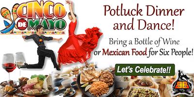 Cinco de Mayo Salsa / Bachata Class, Potluck Dinner and Dance!!