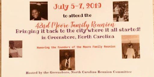 The 2019 42nd  Moore Family Reunion