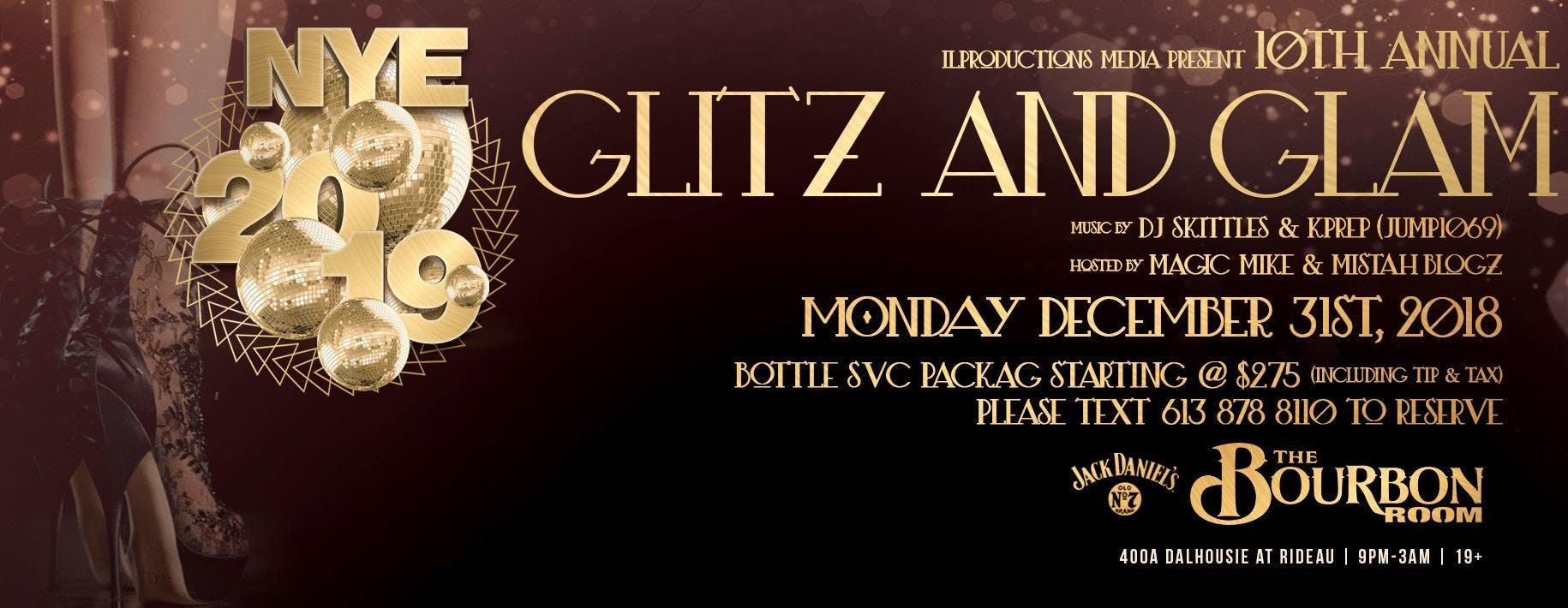 Ottawa's NYE 2019 | 10th Annual Glitz n Glam