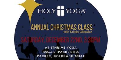 Annual Christmas Holy Yoga Class