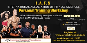 I.A.F.S. Personal Training Workshop