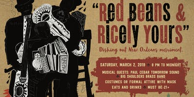 "Mystick Krewe of LAFF Mardi Gras BASH- ""Red Beans & Ricely Yours\"""