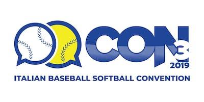 CON3 - Italian Baseball Softball Convention 2019