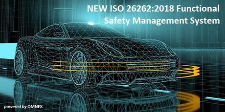 NEW ISO 26262:2018 Functional Safety Management System tickets