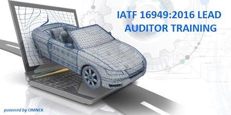 IATF 16949:2016 LEAD AUDITOR TRAINING, ENGLISH Tickets