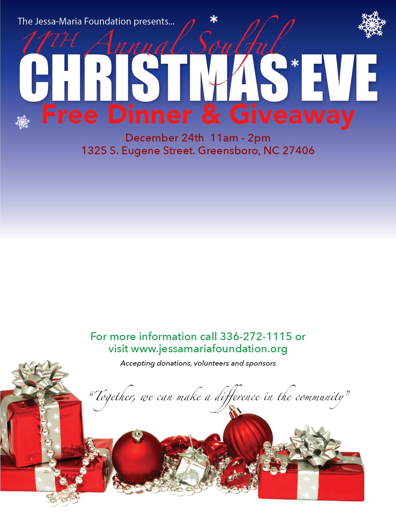 11th Annual Christmas Eve Dinner and Giveaway. at 1325 South Eugene ...