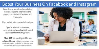 Boost Your Business with Facebook & Instagram - KCMO (3 Saturdays)