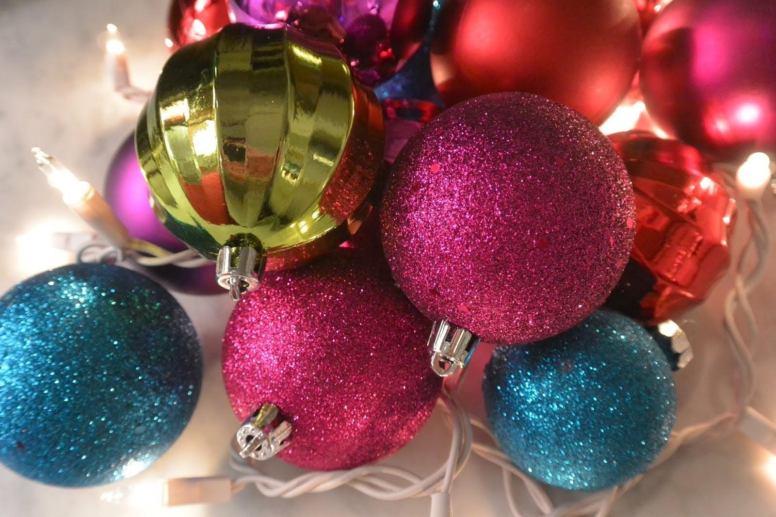 Wine drinking & Ornament Decorating