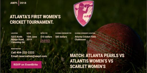 AWPL 2018 - Atlanta First Women's Cricket Tournament