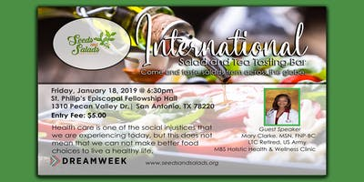 International Salad and Tea Tasting Bar