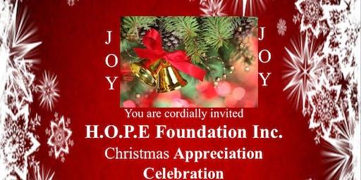 H.O.P.E. Foundation Inc. 2019 Christmas Appreciation Celebration