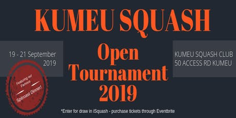 Kumeu Squash Club A2 & Below Open Tournament | Thur to Sat, 19-21 September 2019 tickets