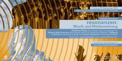 """Podiumsdiskussion mit Hartmut Rosa: """"Resonanzen. Musik und Weltbeziehung"""""""
