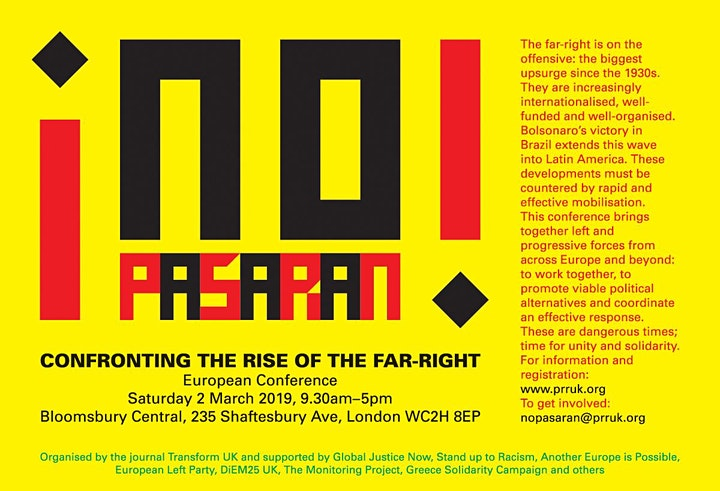 No Pasaran - Confronting the Rise of the Far-Right image