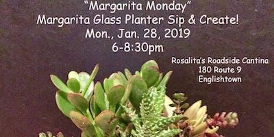 Sip & Create - Margarita Glass Succulent Planter