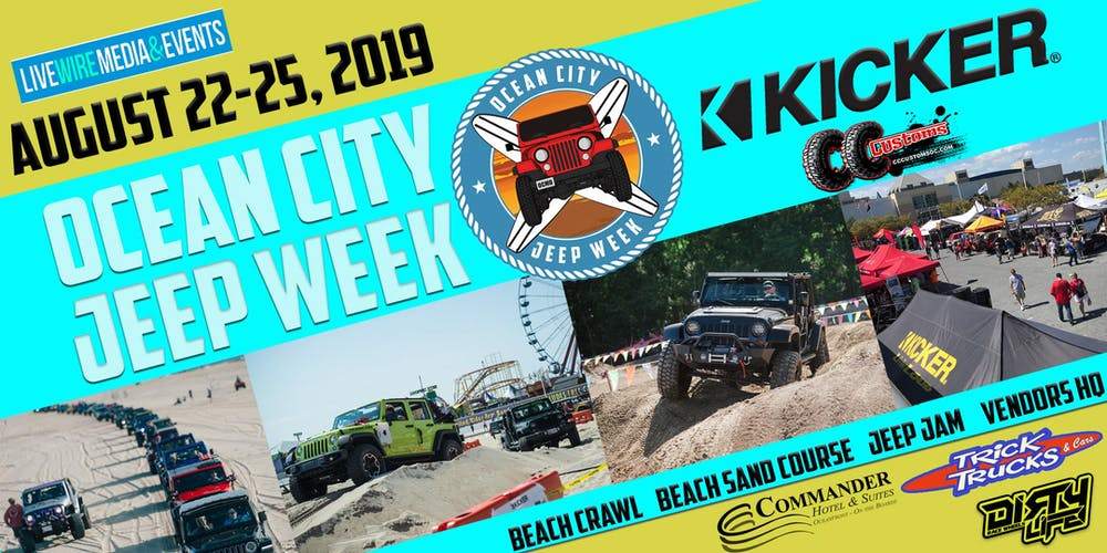 Ocean City Jeep Week >> 2019 Ocean City Jeep Week Aug 22 25 Registration Thu Aug 22