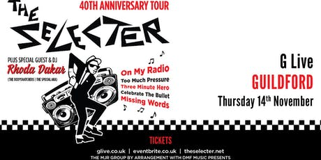 The Selecter - 40th Anniversary Tour + DJ Rhoda Dakar (G Live, Guildford) tickets