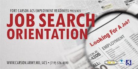 Job Search Orientation  tickets