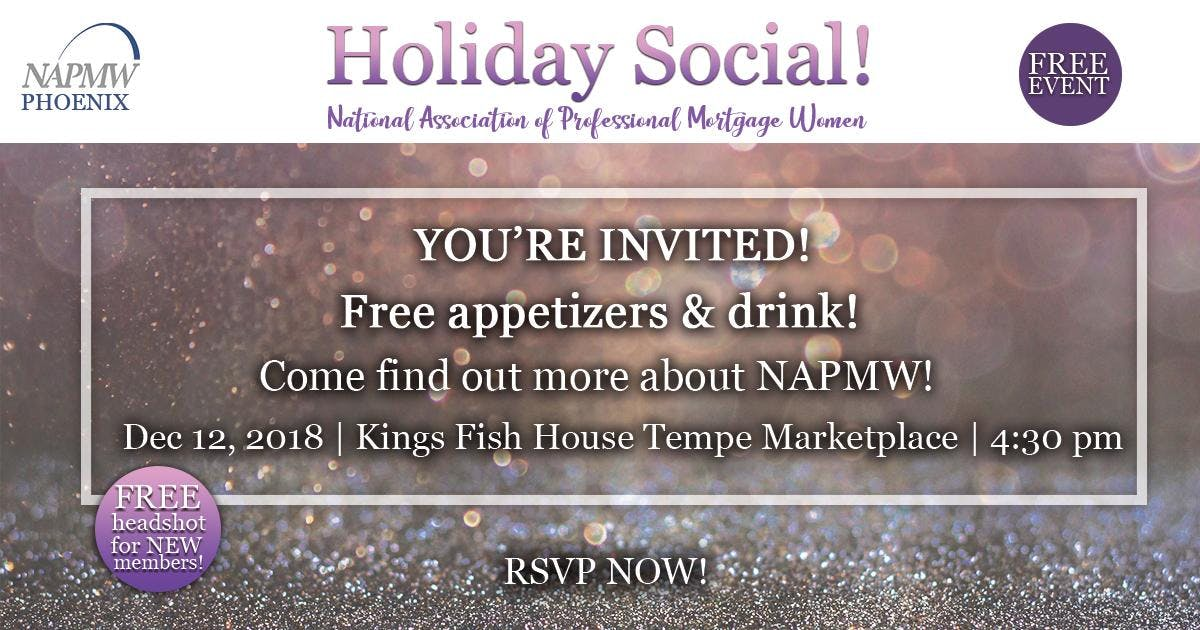 NAPMW - National Assoc. of Professional Mortgage Women - Holiday Mixer!