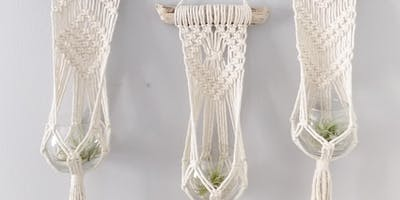 Macrame Plant Hanger Workshop at SLO Botanical Garden